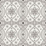 Vector seamless pattern of interwoven lines Stock Images
