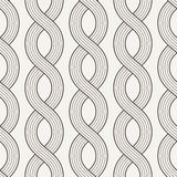 Vector seamless pattern of interwoven ropes Royalty Free Stock Images