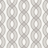 Vector seamless pattern of interwoven ropes Stock Images