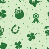 Vector seamless pattern of irish St. Patrick`s Day Royalty Free Stock Photos