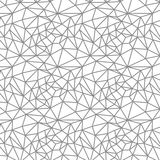 Vector seamless pattern. Irregular abstract linear grid. Graphical monochrome texture. Royalty Free Stock Image