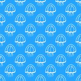 Vector seamless pattern with jellyfishes vector illustration