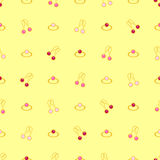 Vector seamless pattern with jewelry, ring and earring Stock Image