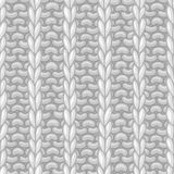 Vector seamless pattern in knitting style. Royalty Free Stock Image