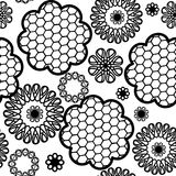 Seamless pattern lace black and white Stock Photo
