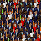 Vector seamless pattern with ladies and gentlemen. 3d isometric  illustration of business or politics community. Stock Images