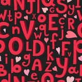 Vector seamless pattern with Latin letters of Stock Images