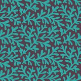 Vector seamless pattern with leaf, leaf background. Seamless pattern, abstract leaf texture, endless background. Can be used for w Stock Photos