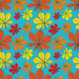 Vector seamless pattern with leaves Stock Images