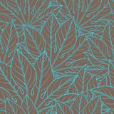 Vector seamless pattern of leaves Stock Image