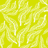 Vector seamless pattern with leaves. Royalty Free Stock Image