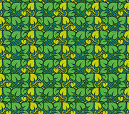 Vector seamless pattern of leaves Royalty Free Stock Photography