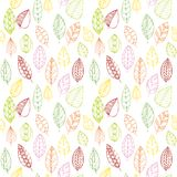 Vector seamless pattern with leaves Royalty Free Stock Image