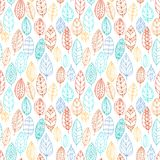 Vector seamless pattern with leaves Royalty Free Stock Images