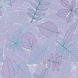 Vector seamless pattern with leaves Stock Photos