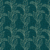 Vector seamless pattern with leaves Stock Photography