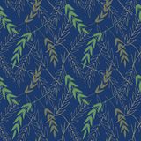 Vector seamless pattern with leaves.Seamless Pattern which can be used as wallpaper, textil. vector illustration