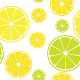 Vector seamless pattern with lemons. White background vector illustration