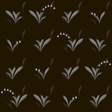 Vector seamless pattern with lily of the valley and snowdrop Royalty Free Stock Image