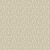 Vector seamless pattern, little beige flowers. Vector seamless pattern of little white flowers on brown field, vintage wallpaper, seamless texture or retro Royalty Free Stock Photo