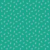 Vector seamless pattern, little flowers on green Royalty Free Stock Photos