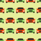 Vector seamless pattern luxury car transportation detailed auto business transport design pickup Royalty Free Stock Photo