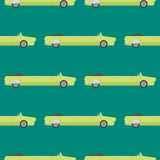 Vector seamless pattern luxury limousine long car transportation detailed auto business transport design pickup Royalty Free Stock Image