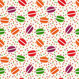 Vector seamless pattern with macaroons. Royalty Free Stock Photos
