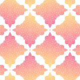 Vector seamless pattern with mandala. Endless background orange and pink . Ethnic seamless pattern. Stock Photo