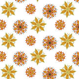 Vector seamless pattern mandala for prints, t-shirts, web Stock Images