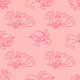Vector seamless pattern. Many little birds. Stock Photo