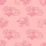Vector seamless pattern. Many little birds. Stock Photo