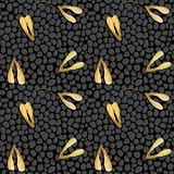 Vector seamless pattern with maple seeds Royalty Free Stock Photos