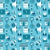 Vector seamless pattern with marketing icons Royalty Free Stock Image