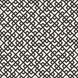 Vector seamless pattern. Mesh repeating texture. Linear grid with chaotic shapes. Stylish geometric lattice design Royalty Free Stock Photo