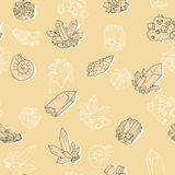 Vector seamless pattern with minerals Stock Photography