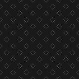 Vector seamless pattern, minimalist texture with dotted rhombuses or squares Stock Photography