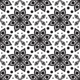 Vector seamless pattern. Modern geometric texture, floral backgr Royalty Free Stock Images