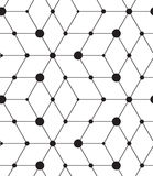 Vector seamless pattern. Modern line geometric background Royalty Free Stock Photo