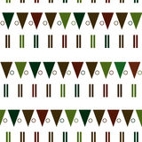 Vector seamless pattern in modern Scandinavian style. geometry background Stock Photos