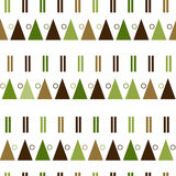 Vector seamless pattern in modern Scandinavian style. geometry background Stock Photography