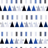 Vector seamless pattern in modern Scandinavian style. geometry background Royalty Free Stock Photography