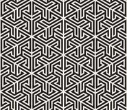 Vector seamless pattern. Modern stylish abstract texture. Repeating geometric tiling from striped elements vector illustration