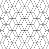 Vector seamless pattern. Modern stylish texture. Repeating geometric tiles from striped elements royalty free illustration