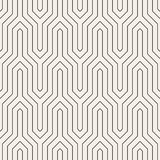 Vector seamless pattern. Modern stylish abstract texture. Repeating geometric tiles. From striped elements stock illustration
