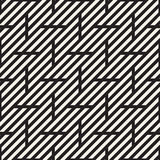 Vector Seamless Pattern. Modern Stylish Interlacing Lines Texture. Geometric Striped Ornament. Stock Images