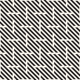 Vector Seamless Pattern. Modern Stylish Interlacing Lines Texture. Geometric Striped Ornament. Royalty Free Stock Images