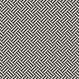 Vector Seamless Pattern. Modern Stylish Interlacing Lines Texture. Geometric Striped Ornament. Royalty Free Stock Photography