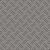 Vector Seamless Pattern. Modern Stylish Interlacing Lines Texture. Geometric Striped Ornament. Royalty Free Stock Photo