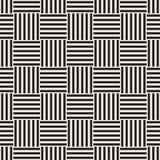 Vector Seamless Pattern. Modern Stylish Interlacing Lines Texture. Geometric Striped Ornament. Stock Image